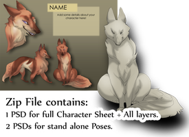 Foxy Thing Character pack by SkulldogAdopts