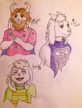 Dreemurr Family by NyaAldrago23