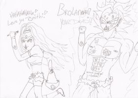 Broly and Brolana1 by Carameja
