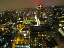 Vancouver at Night by BlueSkyWarhawk