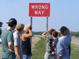 Wrong way by beachtownkid