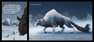 Arctic Blue Warg by Manweri