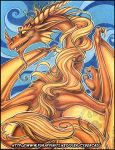 Dragon of the Wind Origintal Traditional Art Aucto by lady-cybercat