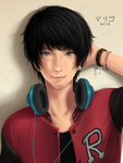 First realistic painting(kinda fail) xD by Piku-chan21
