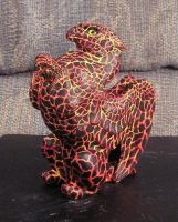 Flame elemental lava griffin by Bladespark