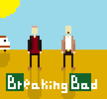 Breaking Bad pixel art. by CrimeBaby