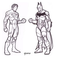 Superman Batman concept sketch by stourangeau