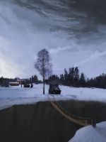 Landscape paintover 01 by JovDaRipper
