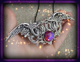 Dragons Blood Pendant 2 by Starl33na