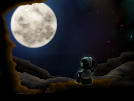 Moon lit ghost by dragontrap