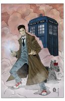 The Tenth Doctor by MikeOppArt