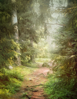 PREMIUM background - My Forest_Green by Euselia