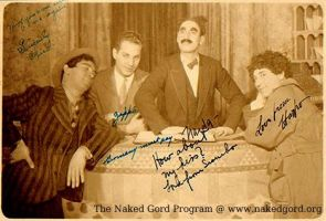 Autographed Marx Brothers by nakedgord