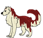 Red Velvet pudding dog adopt by Demon1cAdopts