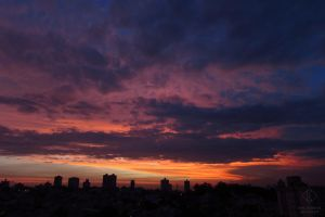 City and Sunset #5 - horizontal by emy-hobbies