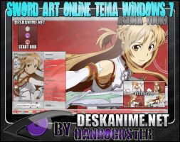 Asuna Yuuki Theme Windows 7 by Danrockster