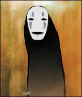 No-Face by CorvidaeArt