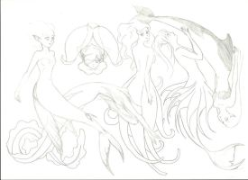 Mermaids scetch by Clanaad