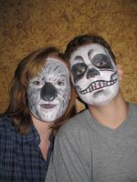 Facepainting- skull and koala by Aldenan