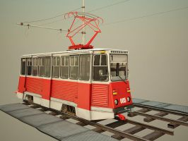 cartoon tram by Aci-RoY