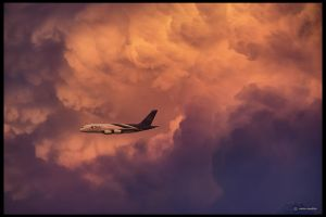 A380 Thai airways at the sunset (DSC03600h) by ookamedias