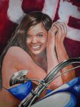 RPM Mural Girl 1 Detail 1 by Gallery-of-Art