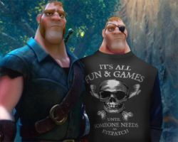 Tangled Stabbington Brothers all fun and games by cdpetee
