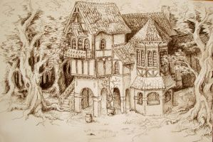 Sketch, house by Ulltotten
