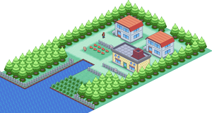Pallet Town Isometric by Legacy0
