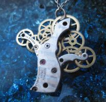 Clockwork Pendant 'Oak Tree' by AMechanicalMind