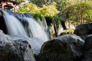 Garden Waterfall by Ravensaura