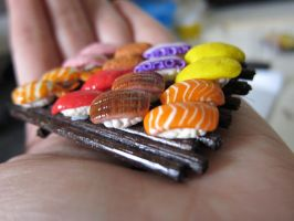 Sushi platter miniature by WinMush