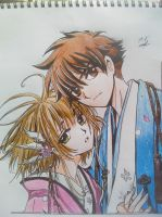 Sakura and Syaoran by Kuyomi01