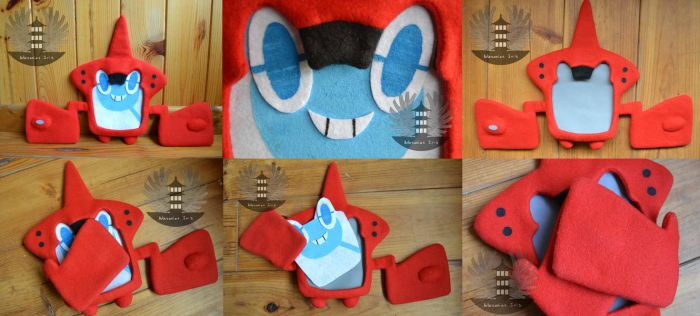 RotomDex Plush Pokemon - removable faces by ArtesaniasIris