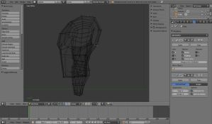 Goku Torso Start II (Profile and WireFrame) by Vysselle