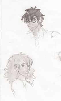 Harry and Hermione by star-bite13