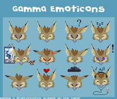 Gamma Emoticons by gryphonworks