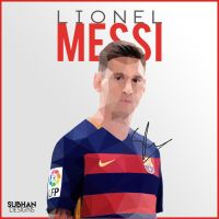 Lionel Messi Poly ART 2016 by subhan22