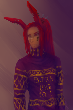 AT: Sweater Ryu by DeathTheBunny