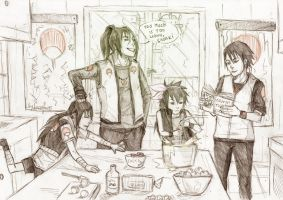 warning! uchiha in the kitchen by Sanzo-Sinclaire