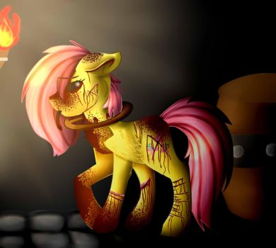 FlutterShy (REDO) [SpeedPaint] by KittenBurger3