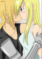 Ed e Winry coloridos by Cooky-2012