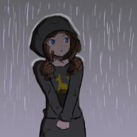 Caitlyn in the Rain by Desert-Poppy