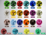 Pokemon Type Symbols by ILKCMP
