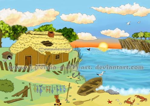 Bg for The Tale of the Fisherman and the Fish 1 by Weirda-s-M-art