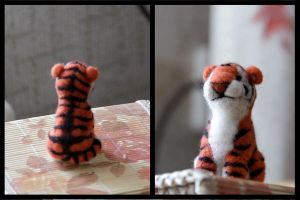 Felting - tiger by Moonticore