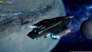 USS Defiant by Euderion