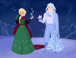 Elsa Meets a Snow King! by AzaleasDolls