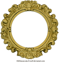 Vintage Gold Frame - Round by EveyD