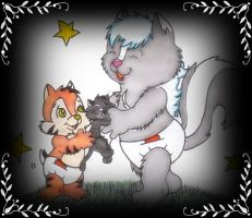 Ozzie n Tavi's New Kitten by OzzieAstaroth